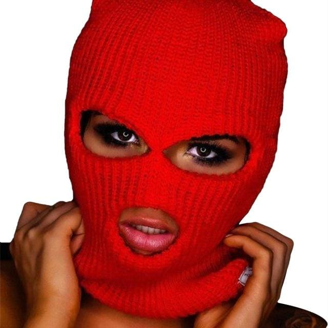 Plain Fashion Ski Mask | Red - Streetgarm