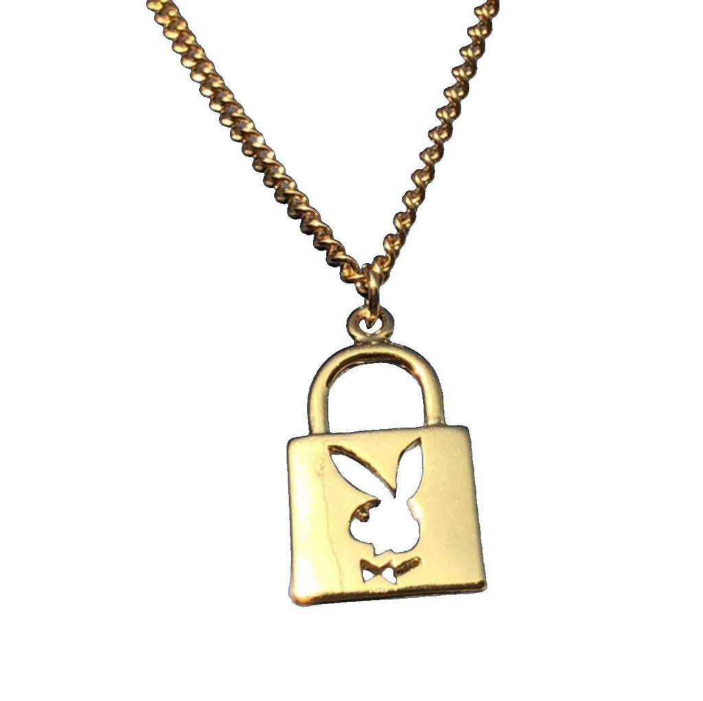 Playboy Bunny Lock Key Necklace | Streetgarm