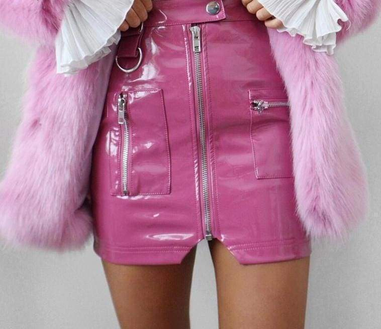 PVC Zipped Skirt | Streetgarm