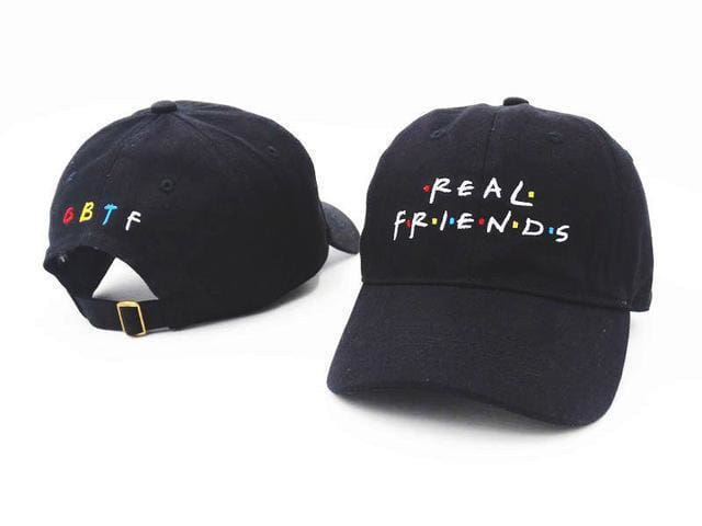 Real Friends Cap | Black - Streetgarm