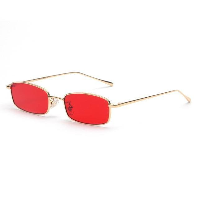 Rectangle Sunglasses | Red - Streetgarm