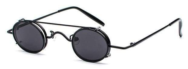 Retro Metal Clip Sunglasses | Black Frame - Streetgarm