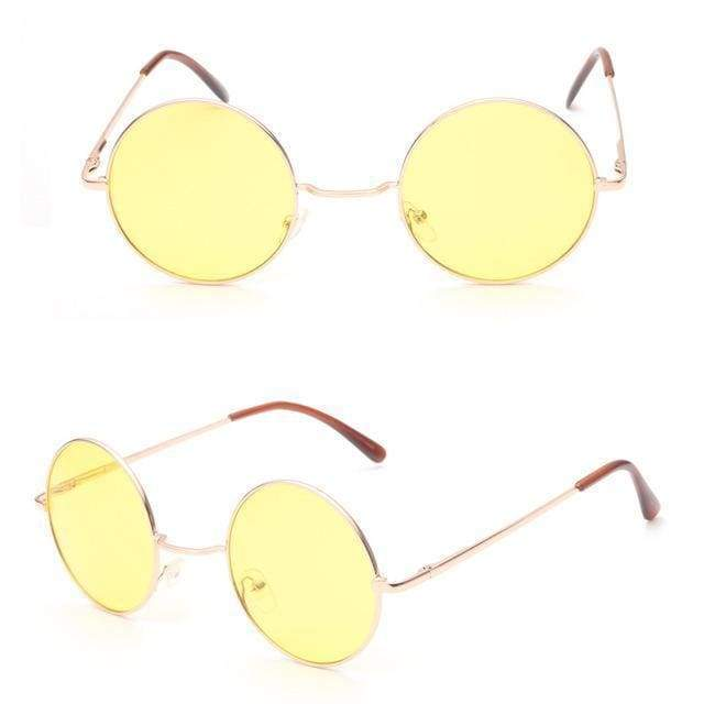 Retro Sunglasses | Yellow - Streetgarm
