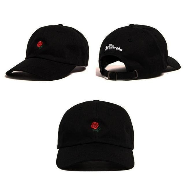 Rose Embroidered Cap | Streetgarm
