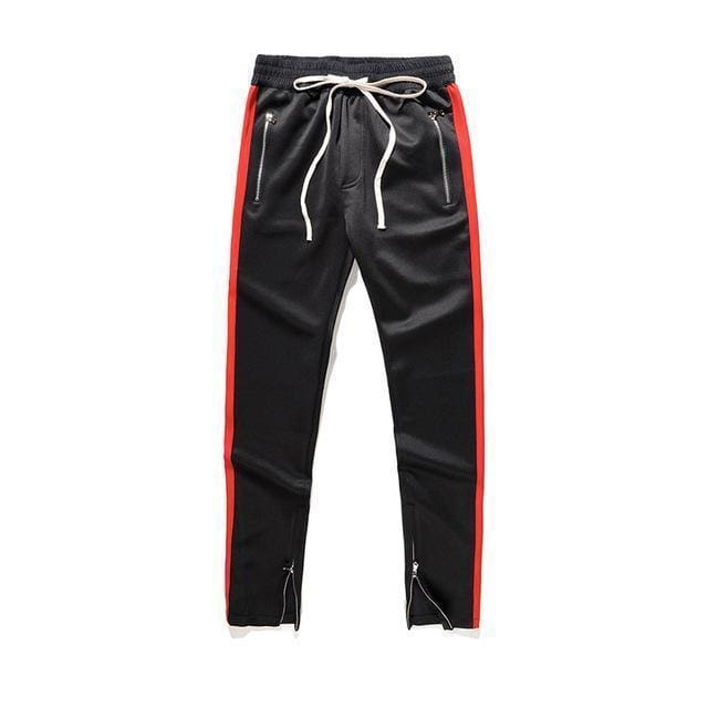 Side Zipper Track Pants | Black / L - Streetgarm
