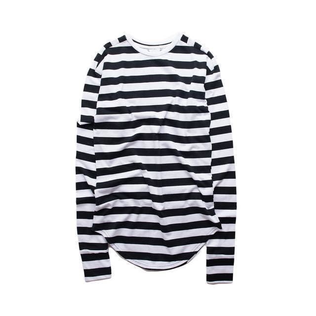 Striped Long Sleeve T-Shirt | Stripe black / S - Streetgarm
