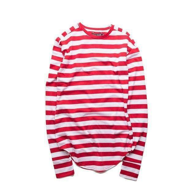 Striped Long Sleeve T-Shirt | Stripe red / S - Streetgarm