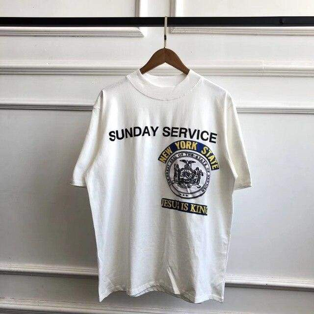 Sunday Service New York Jesus Is King T Shirt - White | M - Streetgarm