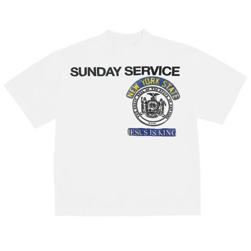 Sunday Service New York Jesus Is King T Shirt - White | Streetgarm