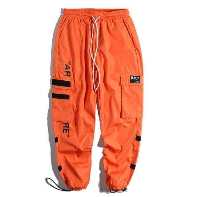 Tactical Cargo Pants | Orange / S - Streetgarm