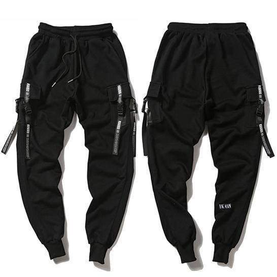 Techwear Jogger Pants | Black / S - Streetgarm