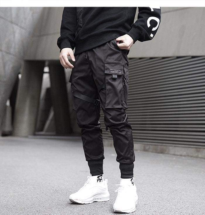 Techwear Ribbon Cargo Pants | Streetgarm
