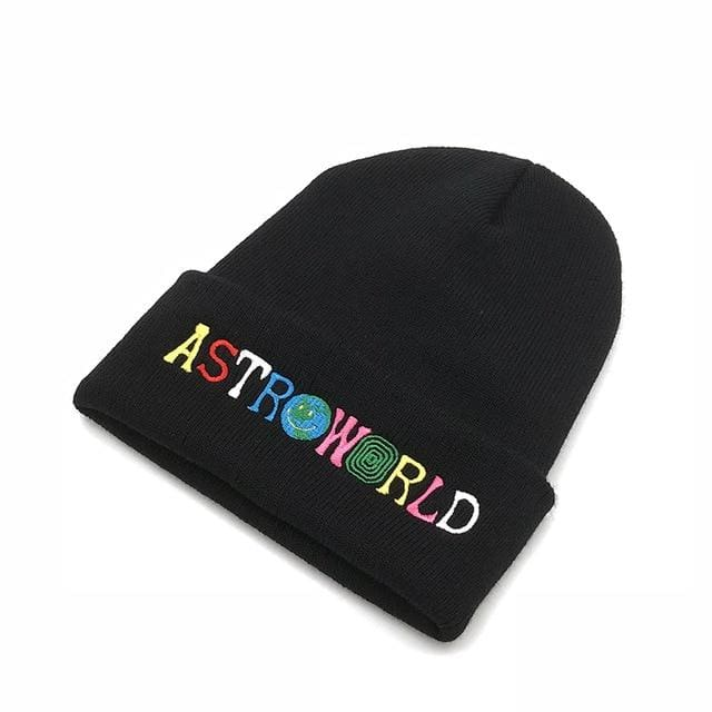 Travis Scott Astroworld Beanie | Black - Streetgarm