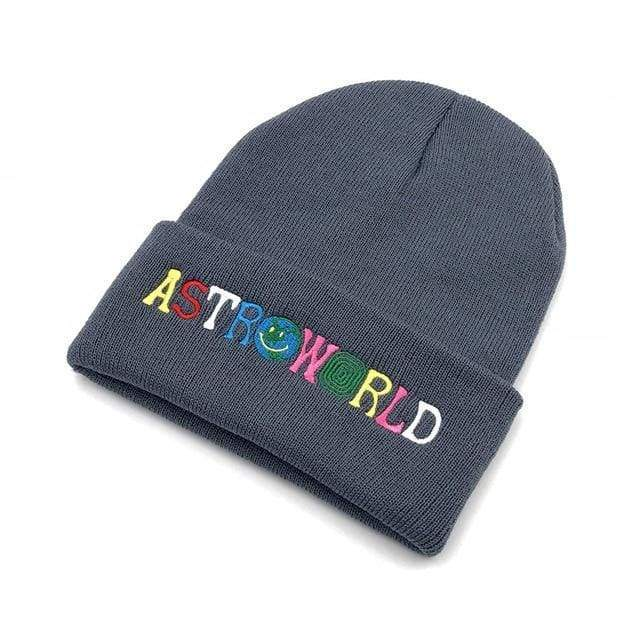 Travis Scott Astroworld Beanie | Grey - Streetgarm