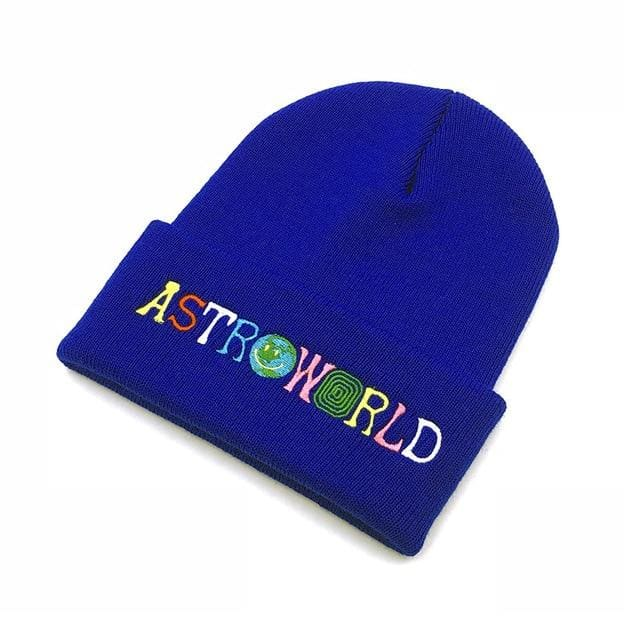 Travis Scott Astroworld Beanie | Royal blue - Streetgarm