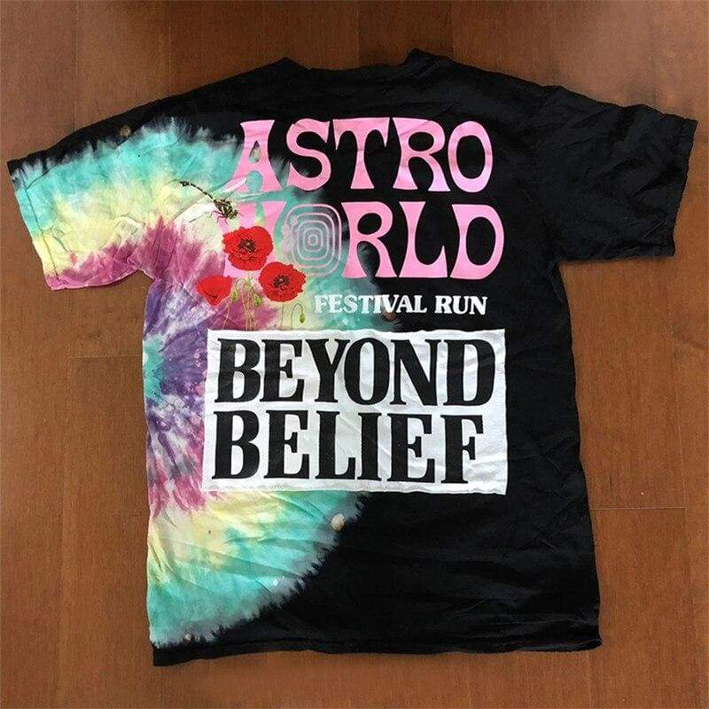 Travis Scott Astroworld Festival Run Tie Dye Tee | Streetgarm