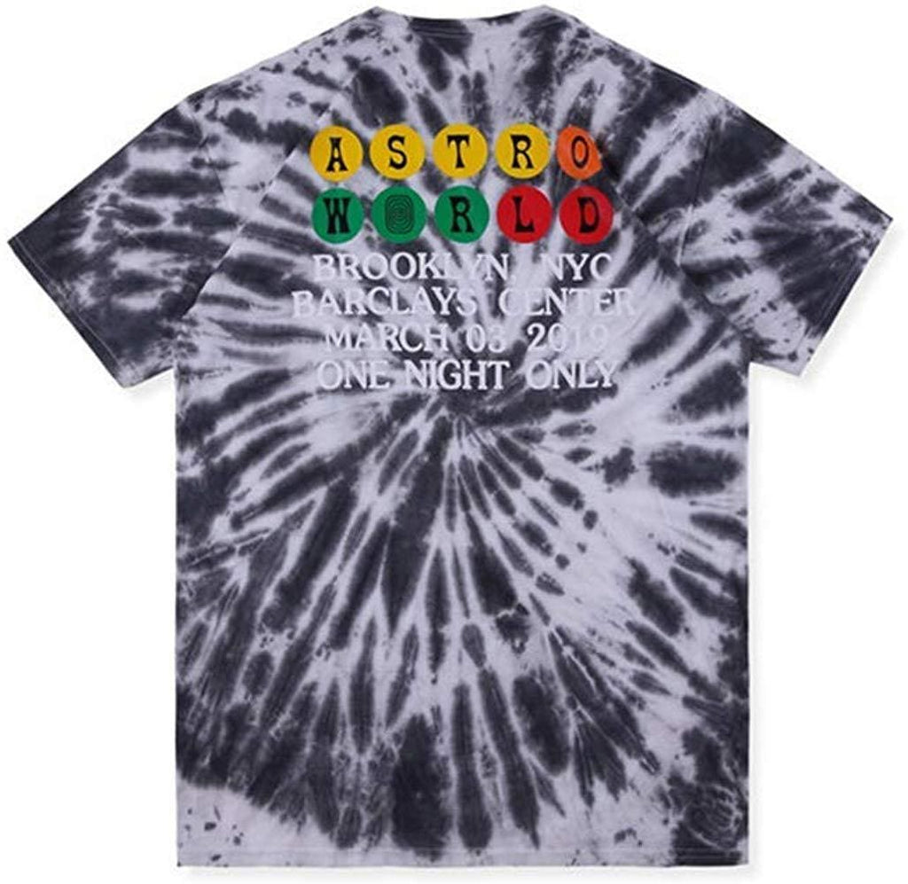 Travis Scott Astroworld Tour Burning Train Tee Tie Dye | Streetgarm