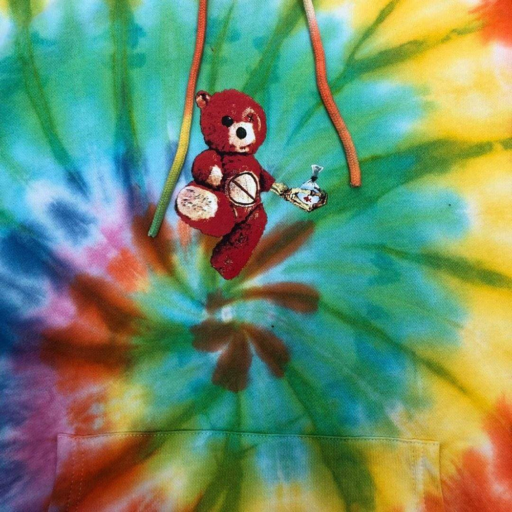 Travis Scott Astroworld Tour Skipping Bear Hoodie Tie Dye | Streetgarm