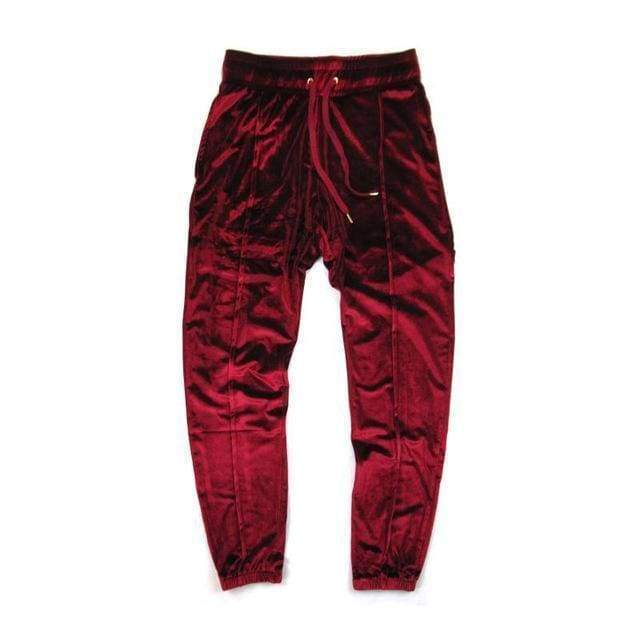 Velour Pants | RED / S - Streetgarm