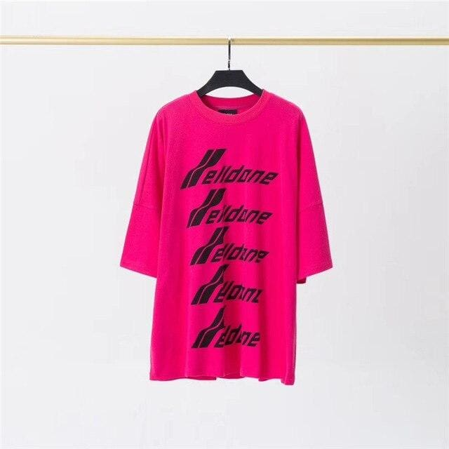 WE11DONE Front Logo T-Shirt | Pink / S - Streetgarm