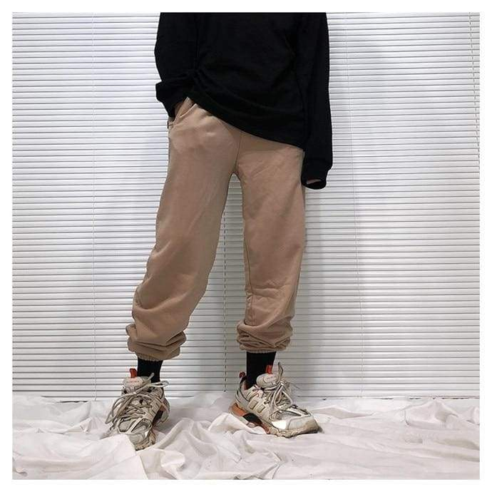 Yeezy Cotton Sweatpants - Brown | Streetgarm