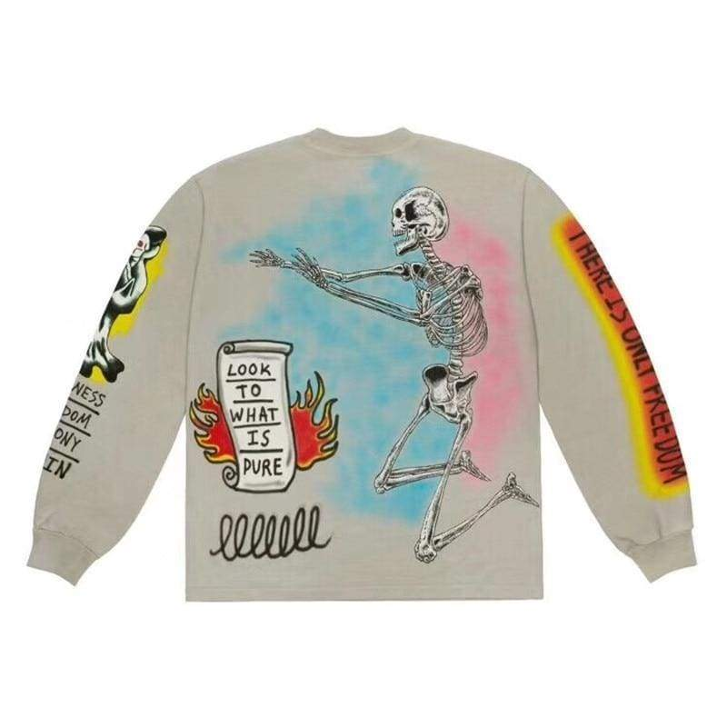 Yeezy Wes Lang Bird Long-Sleeve T-Shirt | Streetgarm