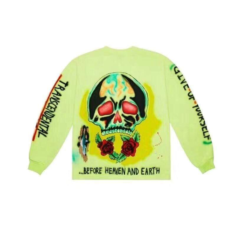 Yeezy Wes Lang Skeleton Long-Sleeve T-Shirt | Streetgarm