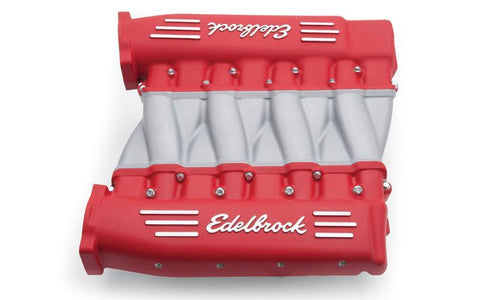 EDELBROCK LS3 CROSS RAM, WITH RED PLENUMS EDL7141