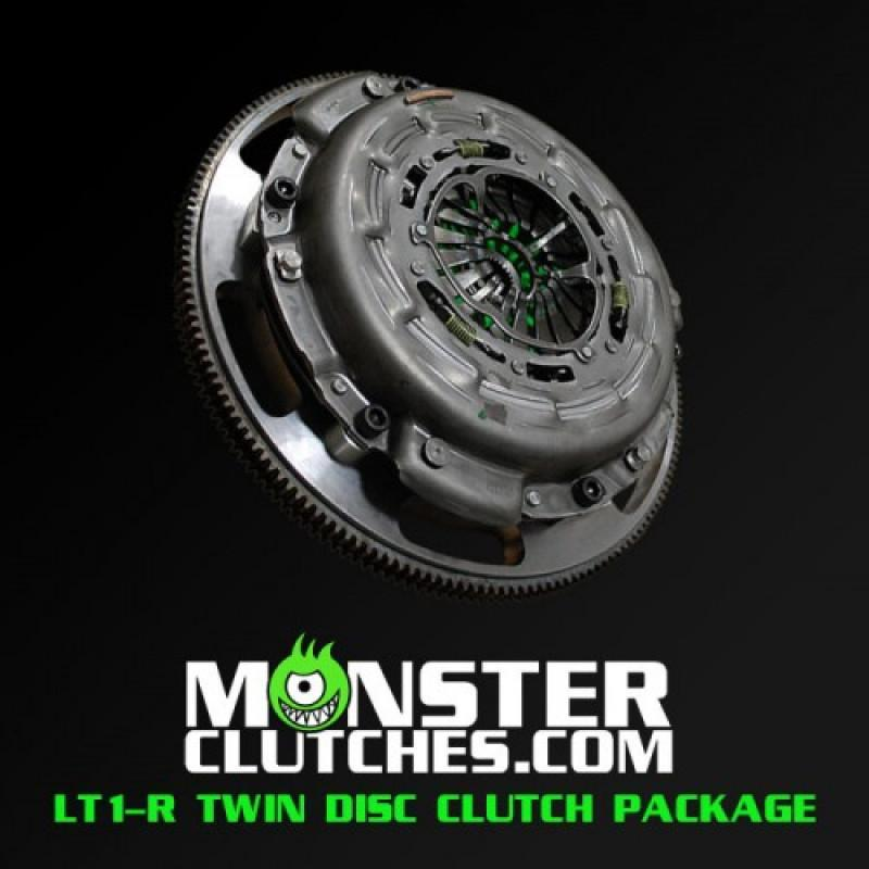MONSTER LT1-R TWIN DISC CLUTCH KIT W/ FLYWHEEL - MCLT1RFBODYBB