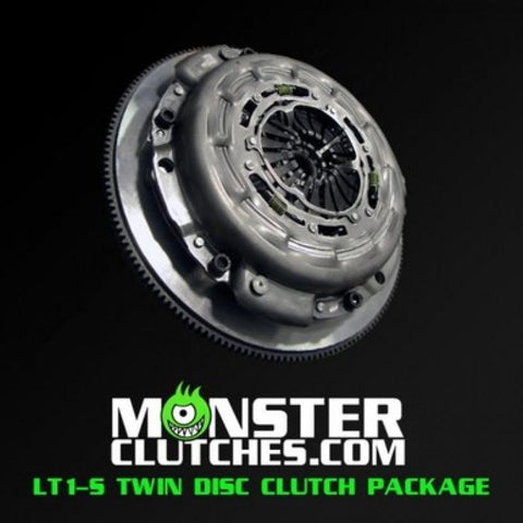 MONSTER LT1-S TWIN DISC CLUTCH KIT W/ FLYWHEEL 10-15 CAMARO - MCLT1SGEN5BB