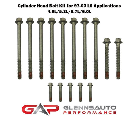Glenn's Auto Performance PAIR of Cylinder Head Bolt Kits for 1997-2003 LS Engines