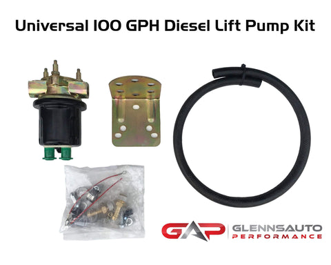 Glenn's Auto Performance Universal High Volume Diesel Lift Pump or Auxiliary Lift Pump Kit - 100GPH