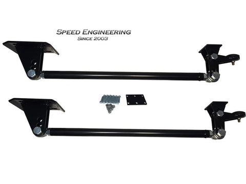 Speed Engineering Black / Yes (Axle Has Been Flipped) Traction Bars 99-18 GM Truck