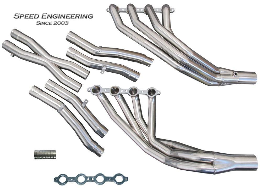 SPEED ENGINEERING LONG TUBE & X-PIPE 05-13 C6 CORVETTE