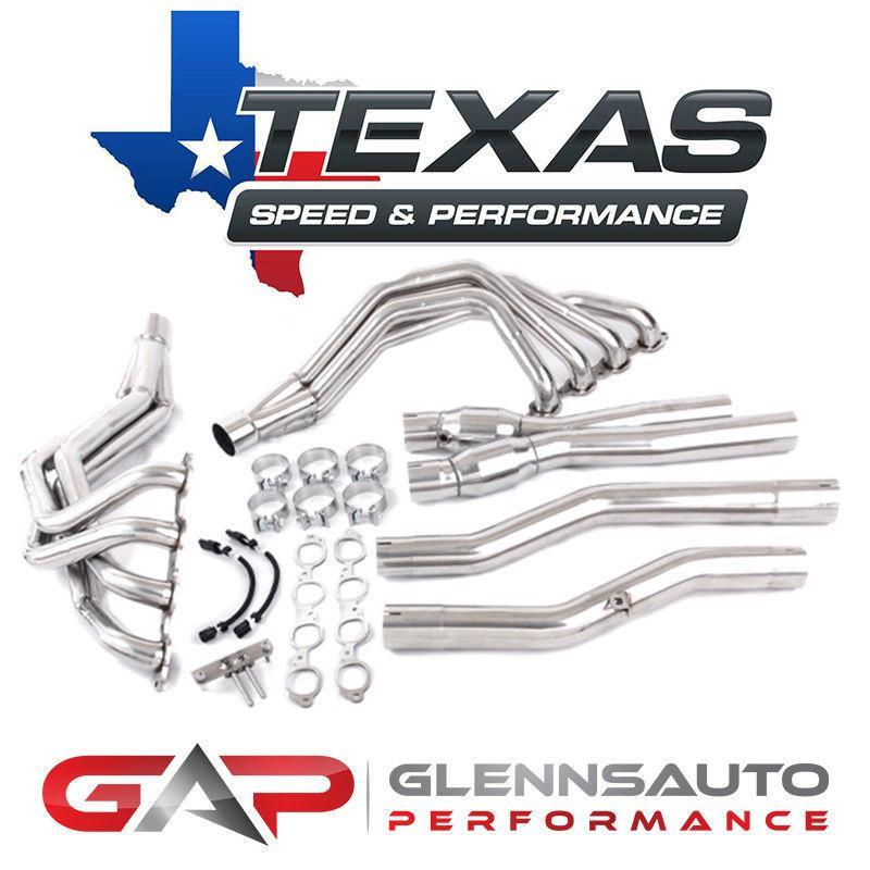 Texas Speed (TSP) 2014+ C7 & Z06 Corvette Long Tubes w/ X-Pipe