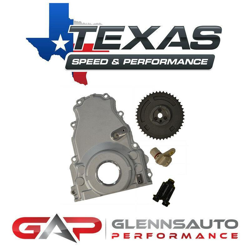 Texas Speed (TSP) GEN 4 LS VVT Delete Kit w/3-Bolt Timing Gear and ARP Cam Bolts