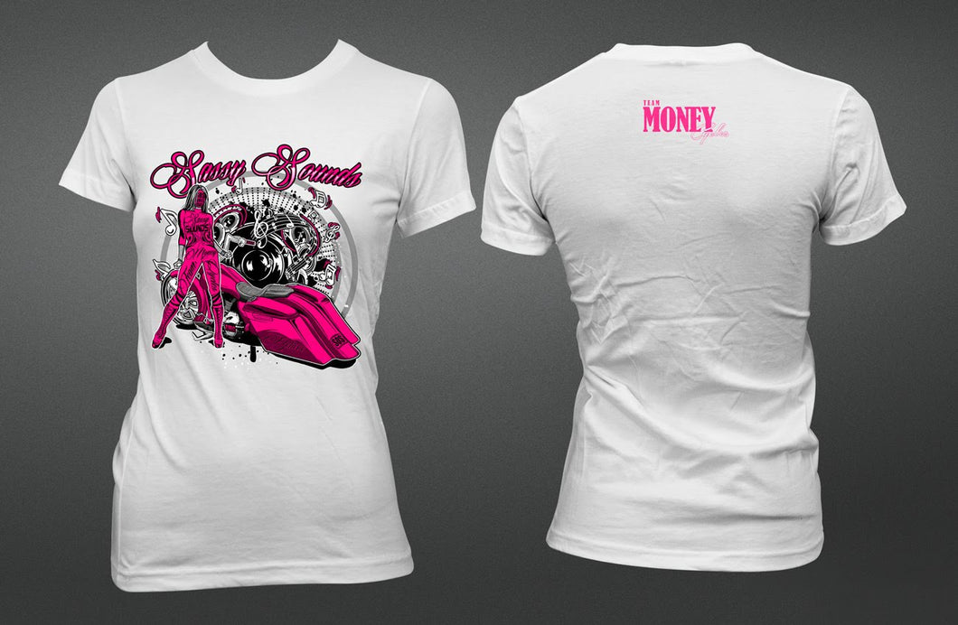 Ladies Slim Fit Sassy Sounds T-Shirt