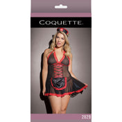 NURSE BABYDOLL BLACK & RED XL (4751624208466)