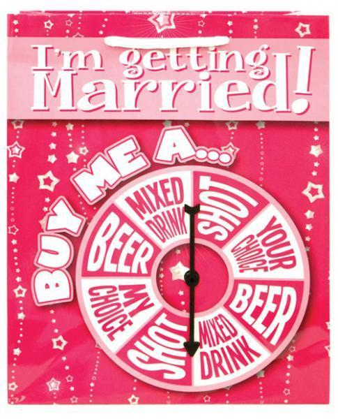I'm Getting Married Buy Me A Spinner Gift Bag - Romance Keeper