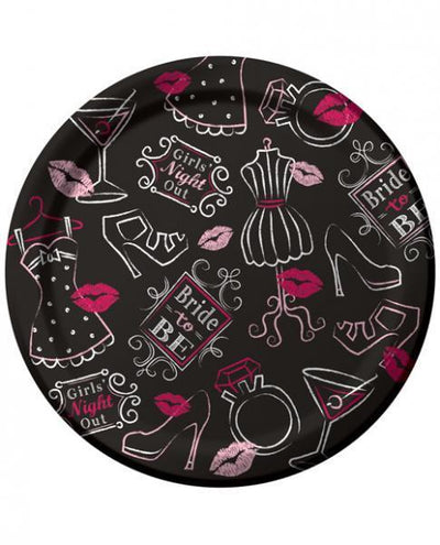 Bride To Be Bridal Bash 7 Inches Plates 8 Pack - Romance Keeper