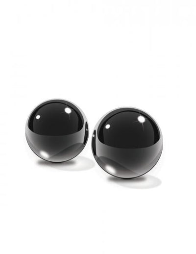 Black Glass Ben Wa Balls Medium - Romance Keeper (1055264604203)