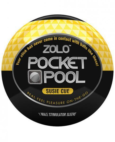Zolo Pocket Pool Susie Cue Yellow Sleeve - Romance Keeper