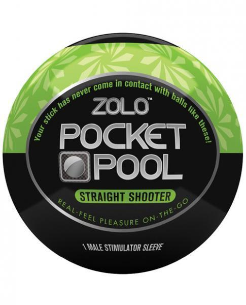 Zolo Pocket Pool Straight Shooter Green Sleeve - Romance Keeper (1028207214635)