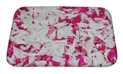 Bath Mat, Of Red And White Petal - Romance Keeper