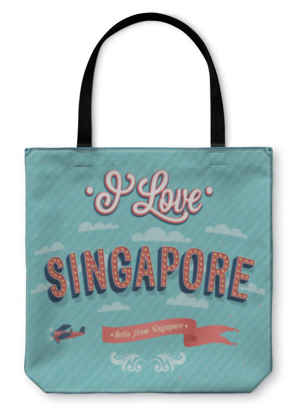 Tote Bag, Vintage Greeting Card From Singapore Singapore - Romance Keeper