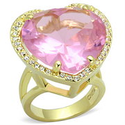 LO3251 - Brass Ring Gold Women Synthetic Rose - Romance Keeper
