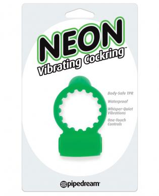 Neon vibrating cockring - green - Romance Keeper
