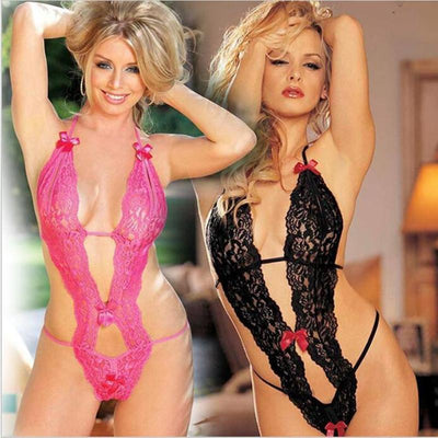 Babydoll Sexy Exotic Lingerie Hot Women Lace Nightwear Female Sexy Costumes Teddy Transparent Lingerie Underwear - Romance Keeper