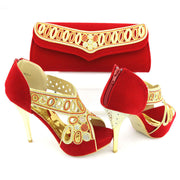 Newest Italian Shoes and Bag Set With Stones - Romance Keeper (1055150669867)