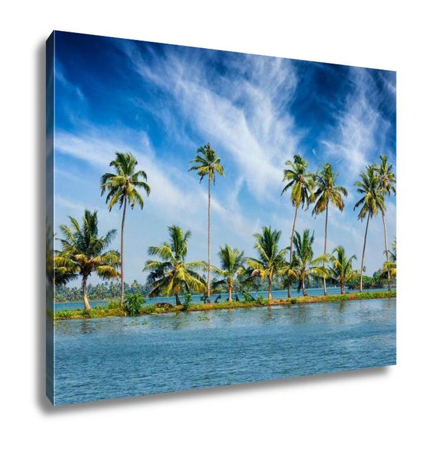 Gallery Wrapped Canvas, Kerala Travel Tourism Palms At Kerala Backwaters Allepey Kerala India This Is - Romance Keeper